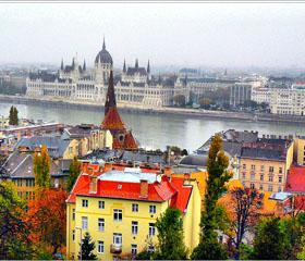 Vuelos Budapest: vista aérea de la ciudad.